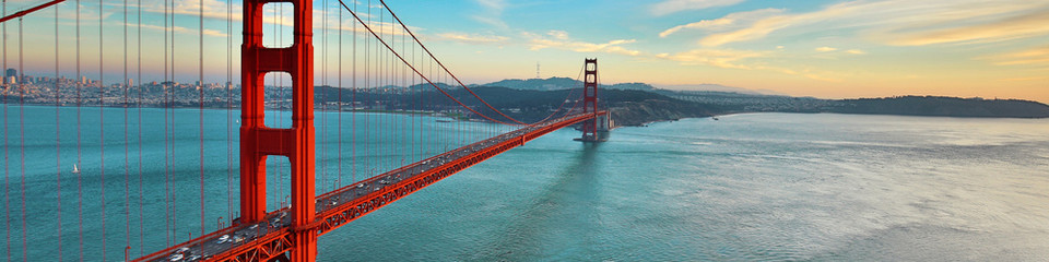 Zelfklevend Fotobehang Brug Golden Gate Bridge, San Francisco California