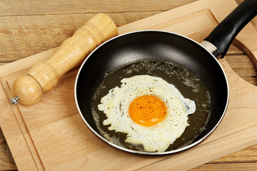 Fond de hotte en verre imprimé Ouf fried egg