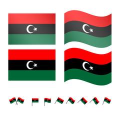 Libya Flags EPS 10