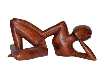 Wooden modern sculpture