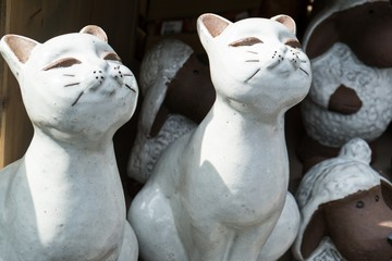 Cute ceramic cats