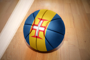 basketball ball with the national flag of madeira