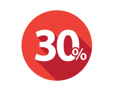 30 percent discount sale red circle