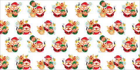 Santa Claus Seamless