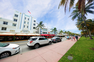 Miami Beach Ocean Drive scene
