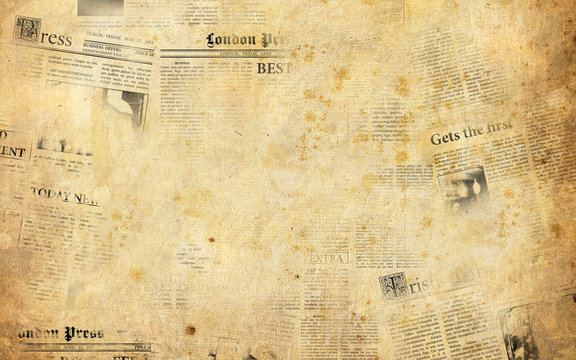 Old newspapers background
