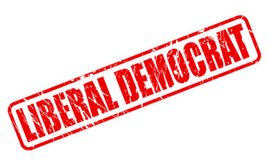 LIBERAL DEMOCRAT red stamp text