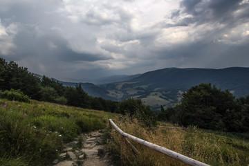 Awesome landskape from Bieszczadys mountains.