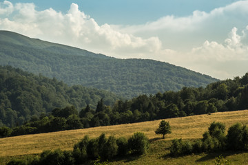 An incredible panorama from the Bieszczadys mountains.