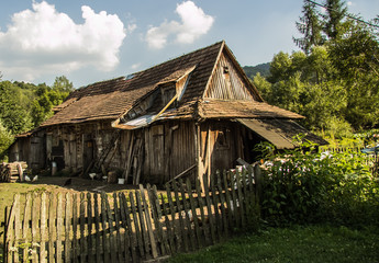 Old house in Bieszczadys mountains.