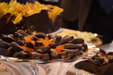 Arance candite glassate di cioccolato