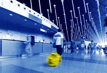passenger in airport.interior of the airport