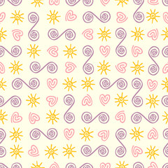 Linearly seamless pattern
