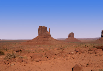 Monument Vallet on Navajo tribal lands of Arizona and Utah USA