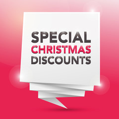 CHRISTMAS DISCOUNTS , poster design element