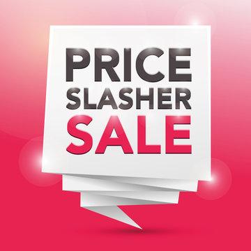 PRICE SLASHER SALE, poster design element