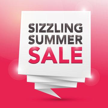 SIZZLING SUMMER SALE , poster design element