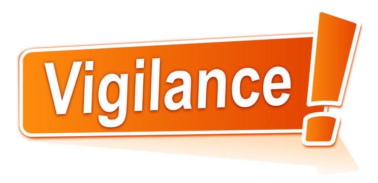 vigilance sur étiquette orange