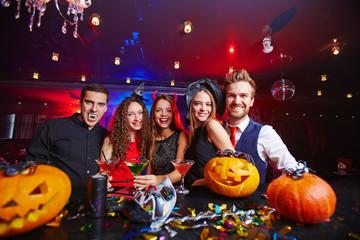 Party among pumpkins