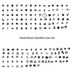illustration vector hand drawn doodles computer icon set