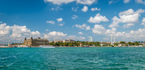 Panoramic view to Haydarpasa in Istanbul, Turkey