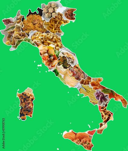 Cartina italia prodotti tipici tomveelers for Roma piatti tipici