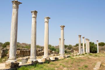 Кипр. Развалины римского поселения Salamis (IV век до н. э.). Вид стадиона.