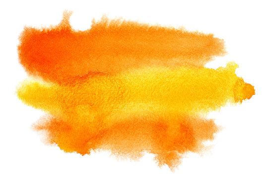 Yellow - orange watercolor brush strokes