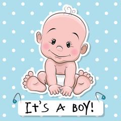 Cute cartoon baby boy