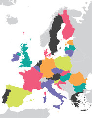 colorful European Union map