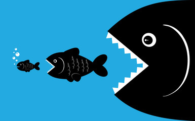 Search photos fish for Big fish eat small fish
