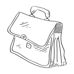 Simple doodle of a briefcase