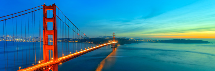 Photo sur Aluminium Pont Golden Gate Bridge, San Francisco California
