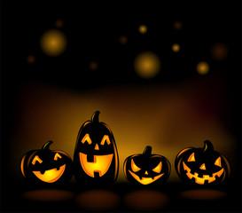Laughing Halloween lanterns