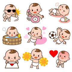 赤ちゃんのポーズセット