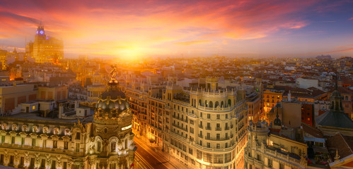 Madrid, sunset