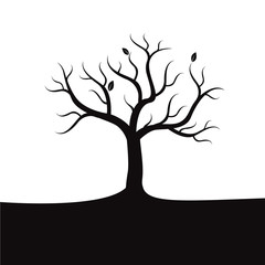 Black vector tree