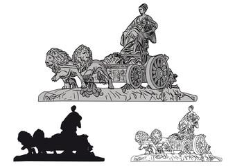 Fuente, estatua de Cibeles, Madrid, España