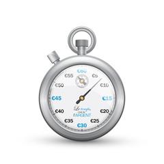 """""""Le temps, c'est de l'argent"""" avec chronomètre"""