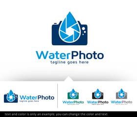 Underwater Photography Logo Design Template Vector