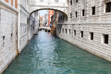 Lovely view of the canal in Venice, Italy