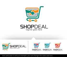 Shop Deal Logo Design Template Vector
