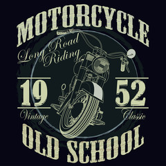 Motorcycle Racing Typography Graphics. Racing. T-shirt Design