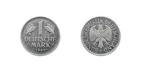 One deutsche mark, Germany coin 1990