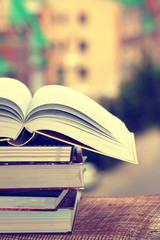 stack book background education