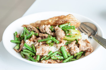 Fried chilly paste with pork, meat etc