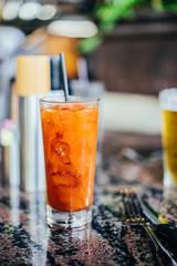 Fresh juice with ice