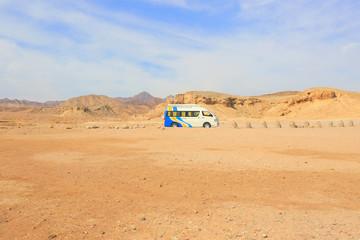 Transport Van in the desert