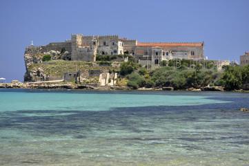 Pianosa island palace on the blu sea