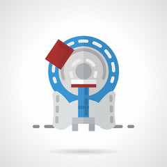 MRI machine flat vector icon